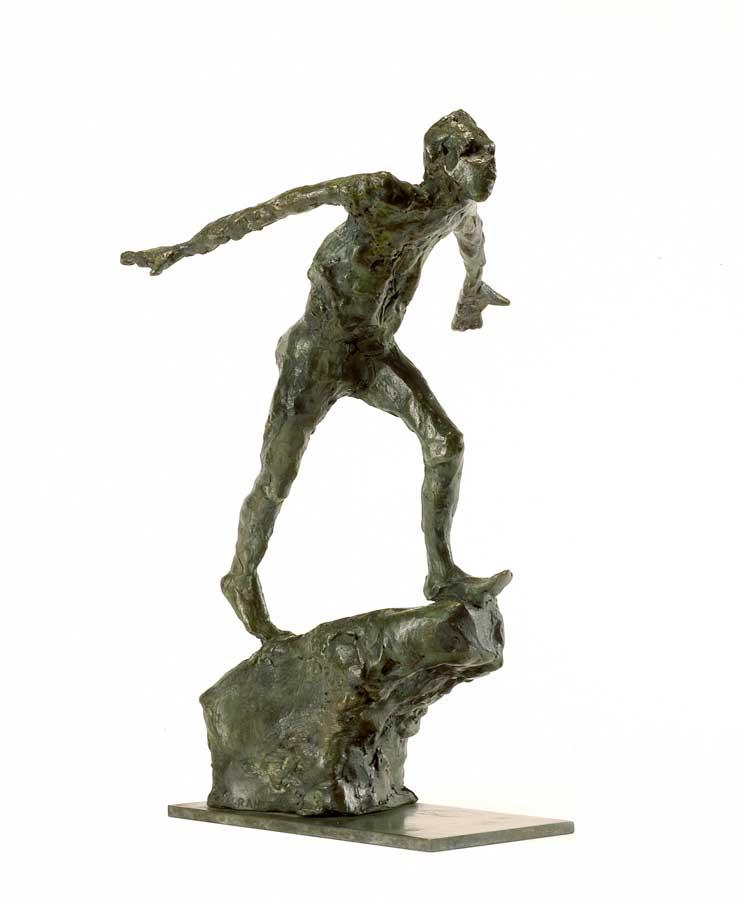 AU BORD DE LA CHUTE - 2004 - bronze - 28,5x17,5x17cm