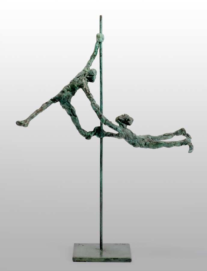 AUTOUR DU MÂT - 2010 - bronze - 24x18x7