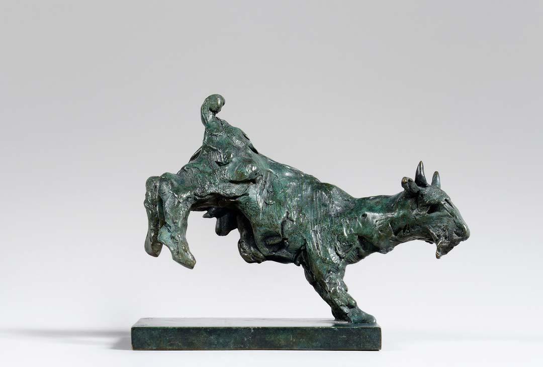 LA CHEVRE - 1997 - bronze - 10x12x5cm