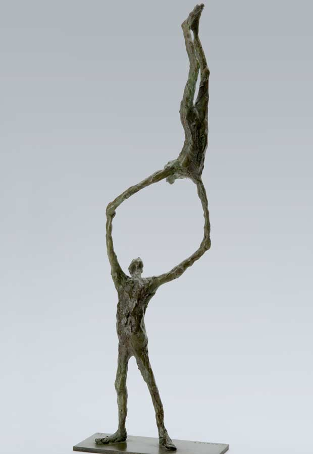 COUPLE ACROBATE - 2004 - bronze - 61x24x18cm