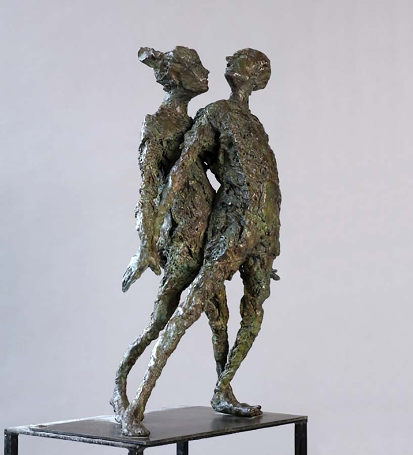 COUPLE AMBIGU - 2008 - bronze - 55x40x30cm
