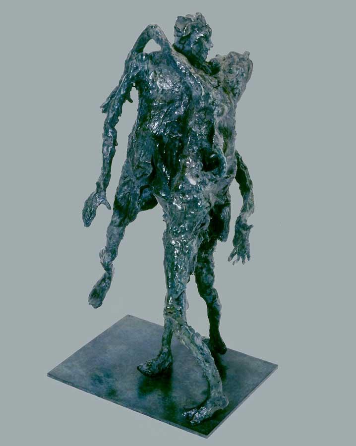 COUPLE EN DESEQUILIBRE - 1998 - bronze - 52x27x21cm