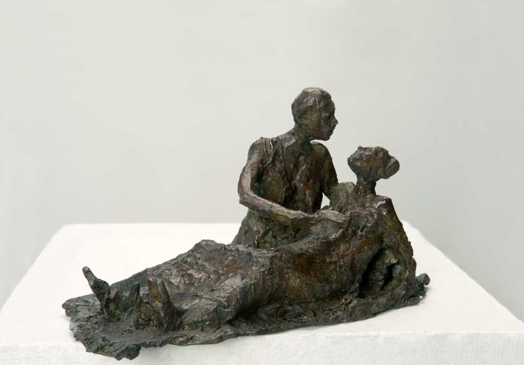 COUPLE ÉTRUSQUE – 2014 – bronze – 14x24x12cm
