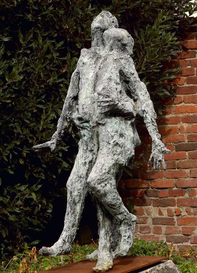COUPLE LOURD - 2003 - bronze - 125x70x65cm