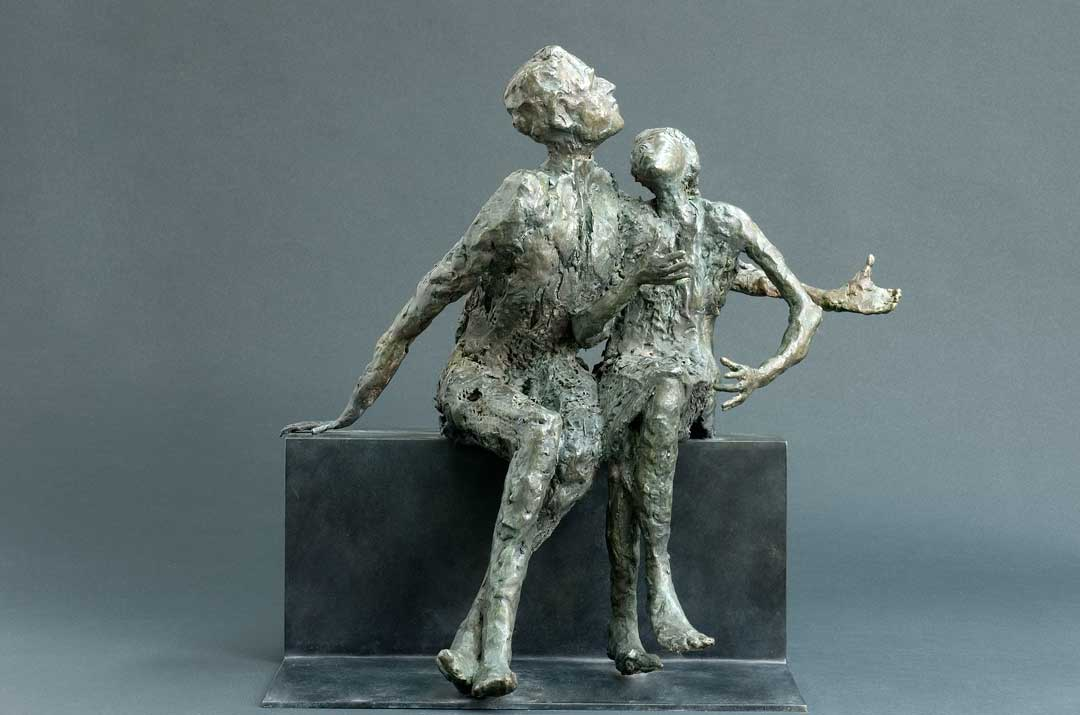COUPLE ROMANESQUE - 2008 - bronze - 51x37x39cm