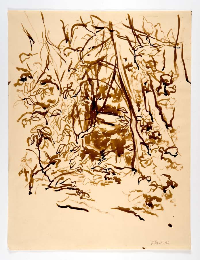 PERCÉE - 1994 - encre  sépia au pinceau - 65x50cm