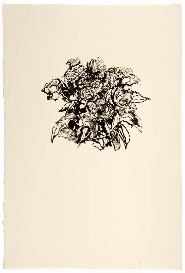 BOUQUET - encre au pinceau - 56x38cm