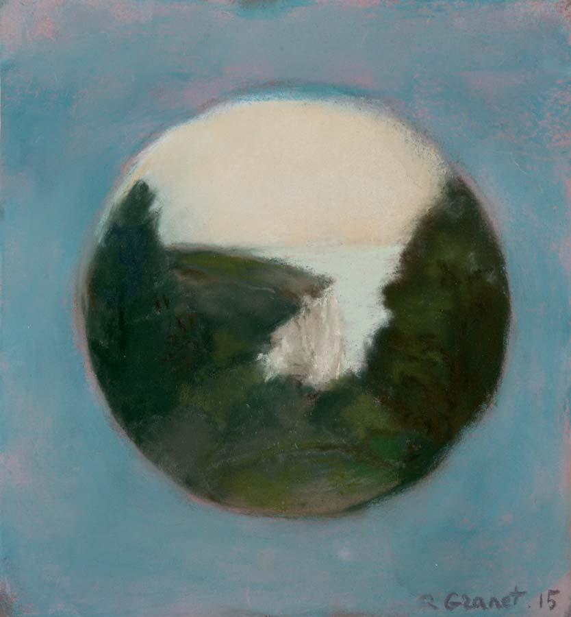 FALAISE EN ROND -2015 - pastel sur papier - 24,5x21cm