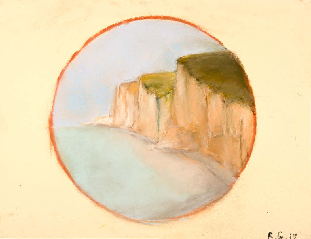 FALAISE EN CERCLE - 2015 - pastel sur papier - 23x30cm