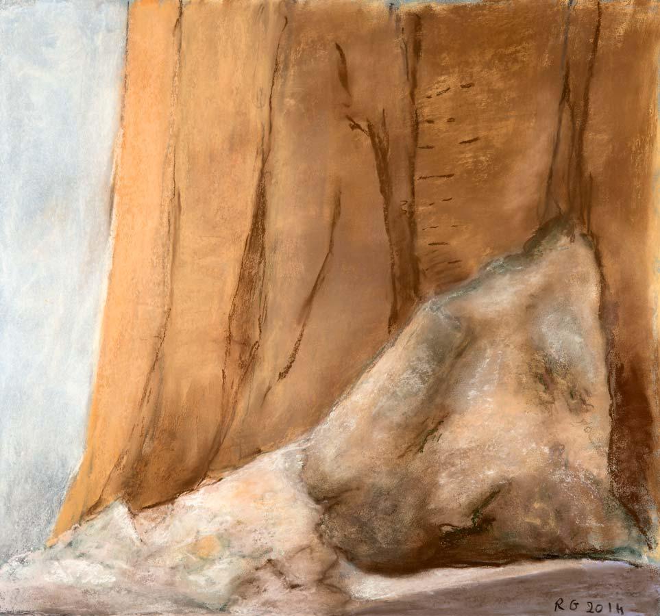 L'EBOULIS DE 2014 - 2014 - pastel sur papier - 43,5x47cm