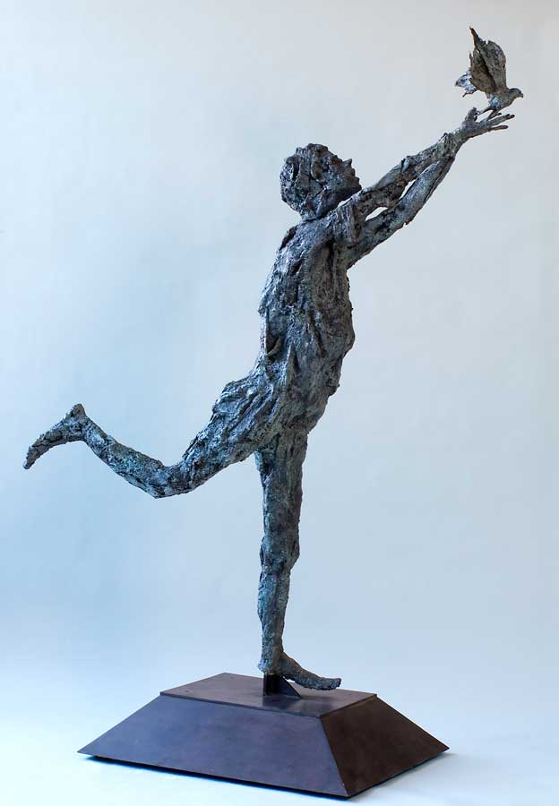 DESIR D'ENVOL - 2010 - bronze - 160x145x50cm