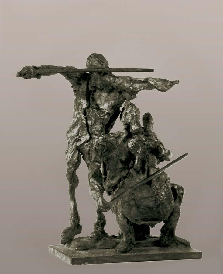 DEUX MUSICIENS - 1988 - bronze - 14x14x8cm