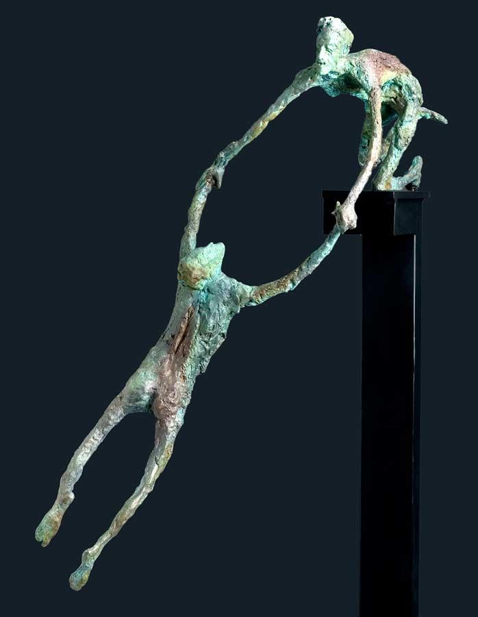 ENTRE DEUX FEUX - 2007 - bronze - 61x56x54cm