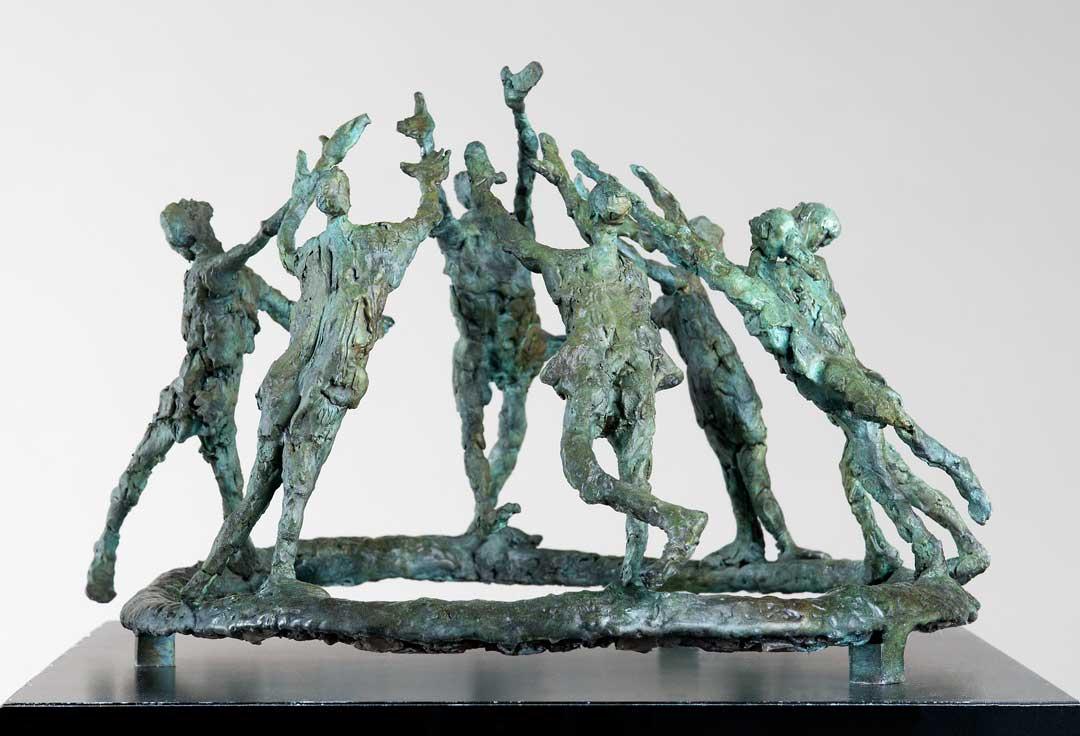 LA RONDE À SEPT - 2010 - bronze - 25x40,5x36,5cm