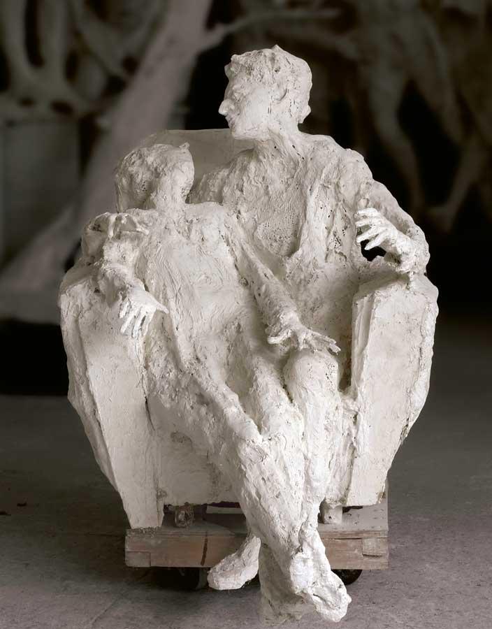 FAUTEUIL À DEUX - 2001 - plâtre - 130x157x90cm