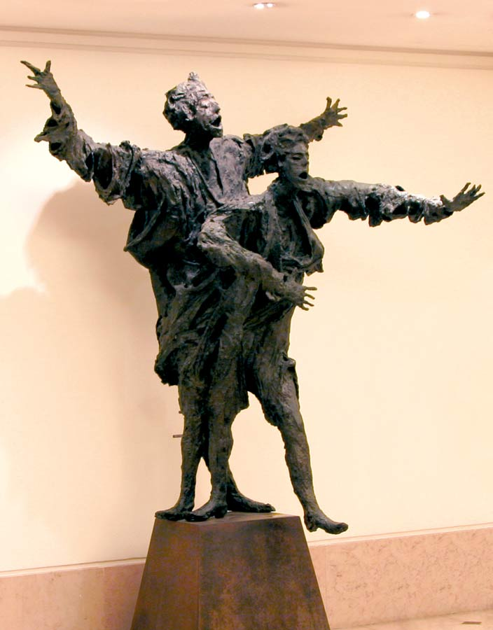 LE GRAND COUPLE LYRIQUE – 1988 – bronze – 200x200x150cm – Le Bon Marché - Paris