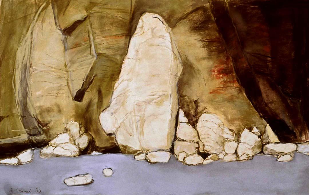 LE GRAND EBOULIS - 2003 - pastel sur papier