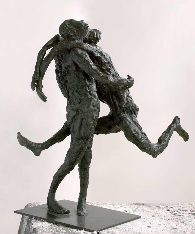 L'EMBRASSADE - 2002 - bronze - 48x44x30cm