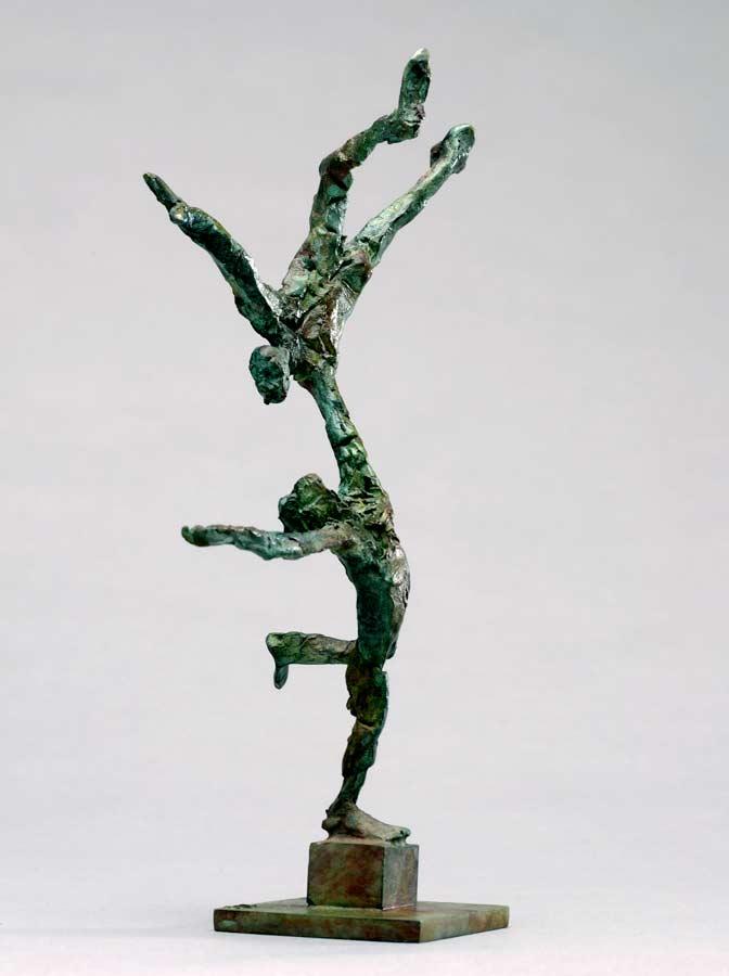 L' ÉQUILIBRE - 2008 - bronze - 16x10,5x5,5cm