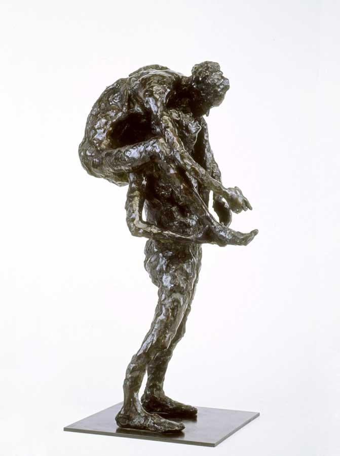 L'UN PORTANT L'AUTRE - 2003 - bronze - 50x30x6,5cm