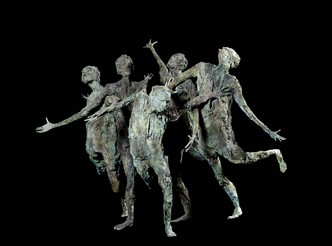 LA FOLLE POURSUITE – 2007 – bronze – 222x182x258cm - collection particulière