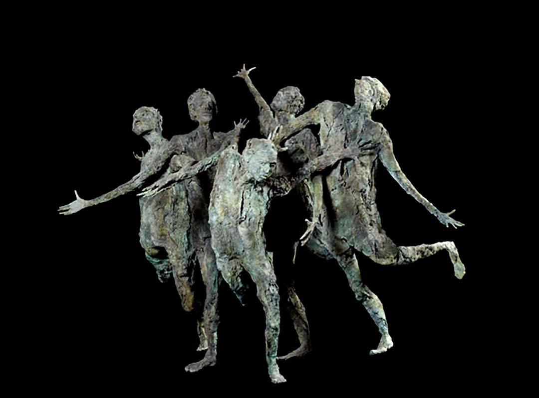 LA FOLLE POURSUITE – 2007 – bronze – 222x182x258cm - collection particulière