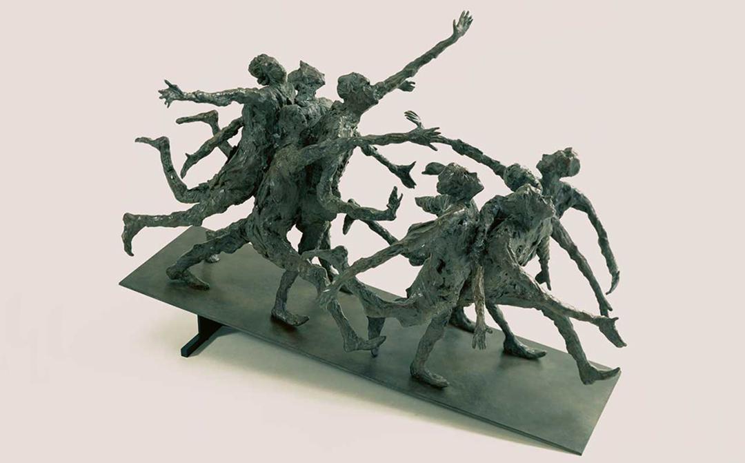 LA GRANDE POURSUITE - 1998 - bronze - 48x70x36cm