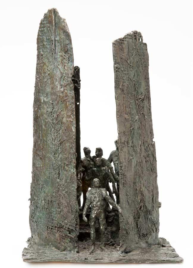 LA SORTIE - 2012 - bronze - 43x43x26,5cm