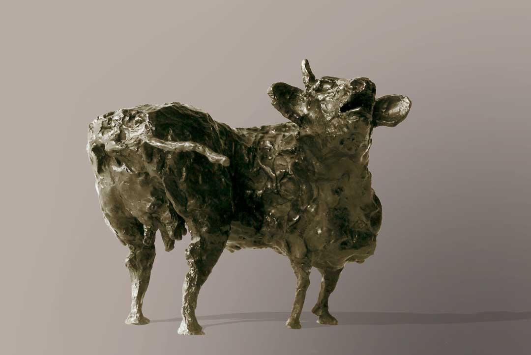 LA VACHE - bronze - 1988 - 15x17x17cm