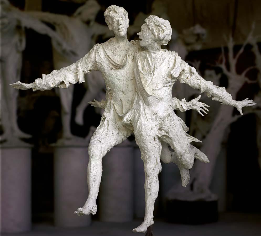 LE GRAND COUPLE HEUREUX - 1989 - plâtre - 198x180x155cm - Ville de Douai