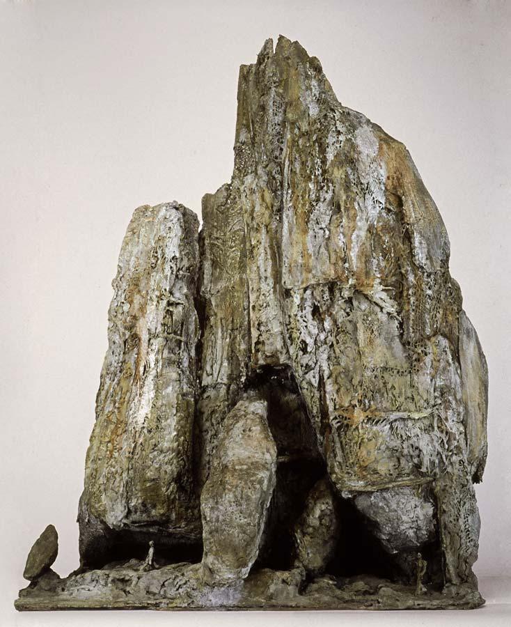 LE GRAND ÉBOULIS - 2003 - bronze - 89x70x30cm