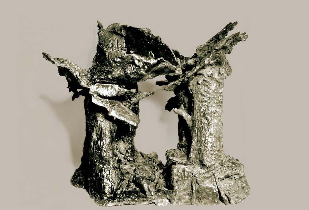 LE TOMBEAU - 1994 - bronze - 47x41x49cm