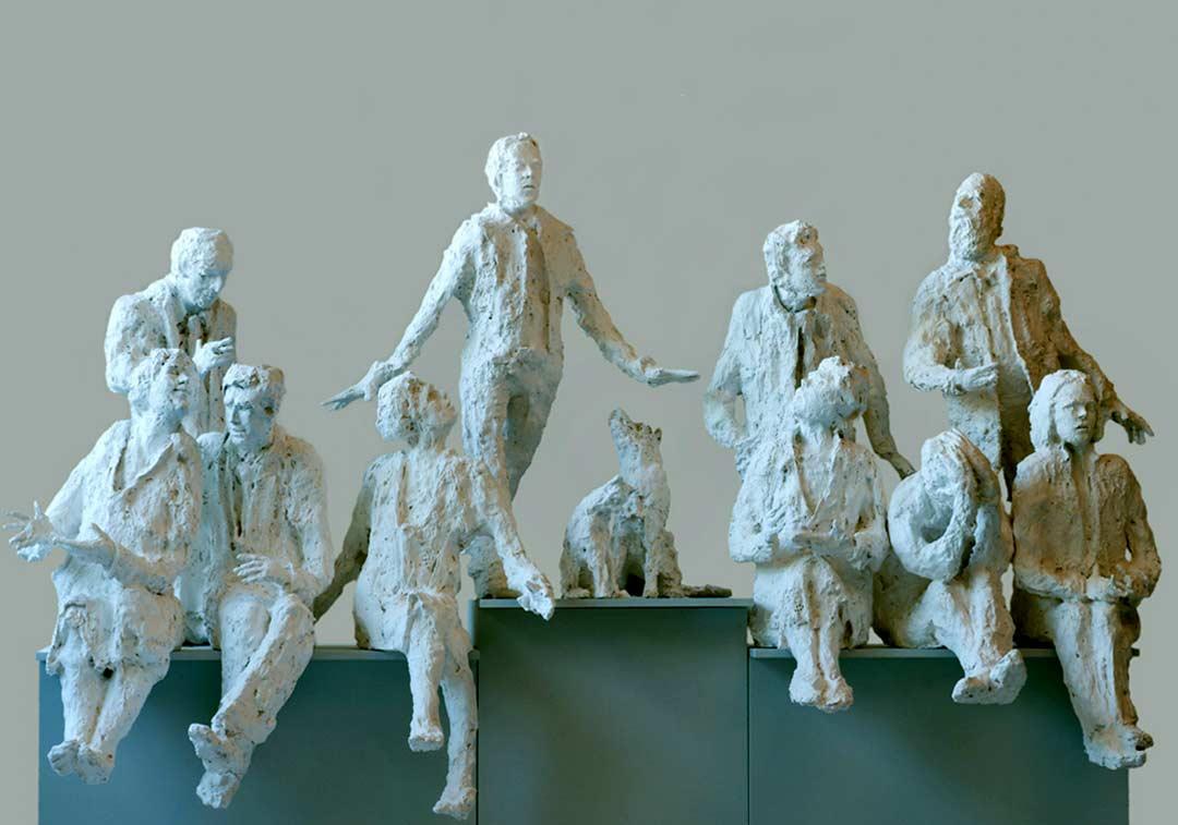 LES AMIS – 2010 - bronze - 260x215x60cm