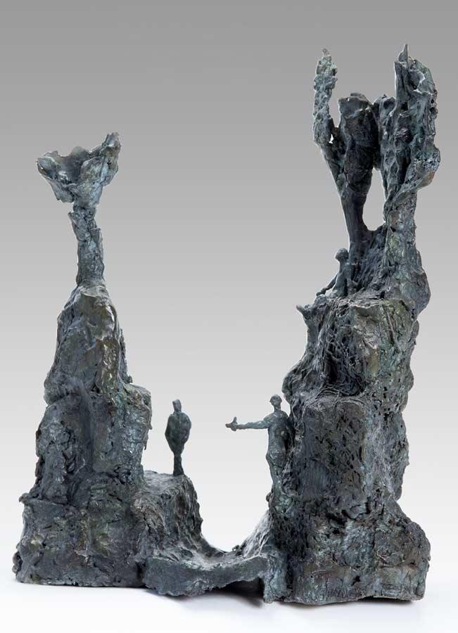 LES DEUX TOURS - 2014 - bronze - 38,5x32x19cm