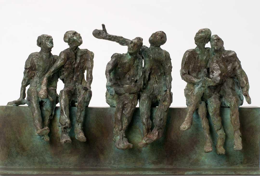 LES SIX - 2011 - bronze - 16,5x30x7,5cm