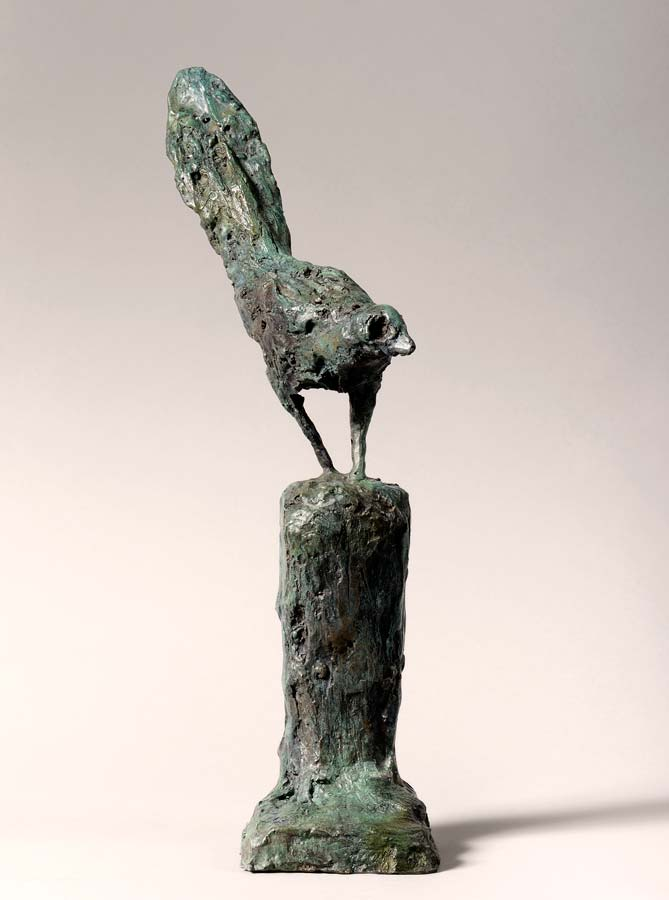 OISEAU ESSEULÉ - 2015 - bronze - 37x12x9,5cm
