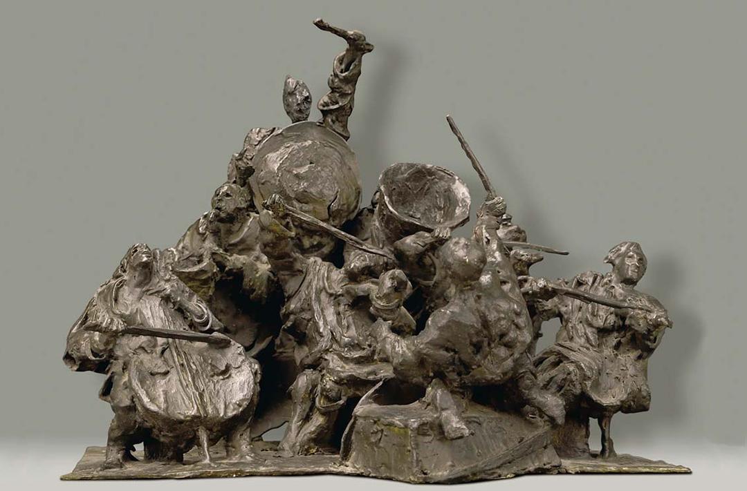 L'ORCHESTRE AVEC VENTS - 1985 - bronze - 1985 - 30x35x40cm