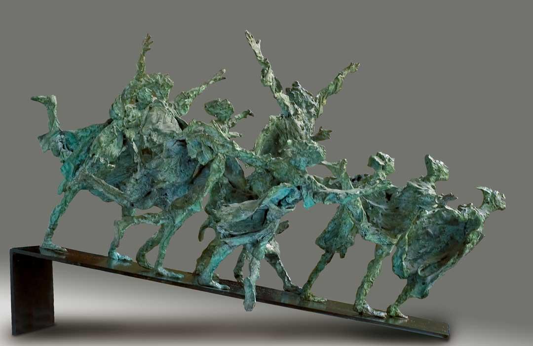 PETITE PANIQUE - 1986 - bronze - 30x60x42cm