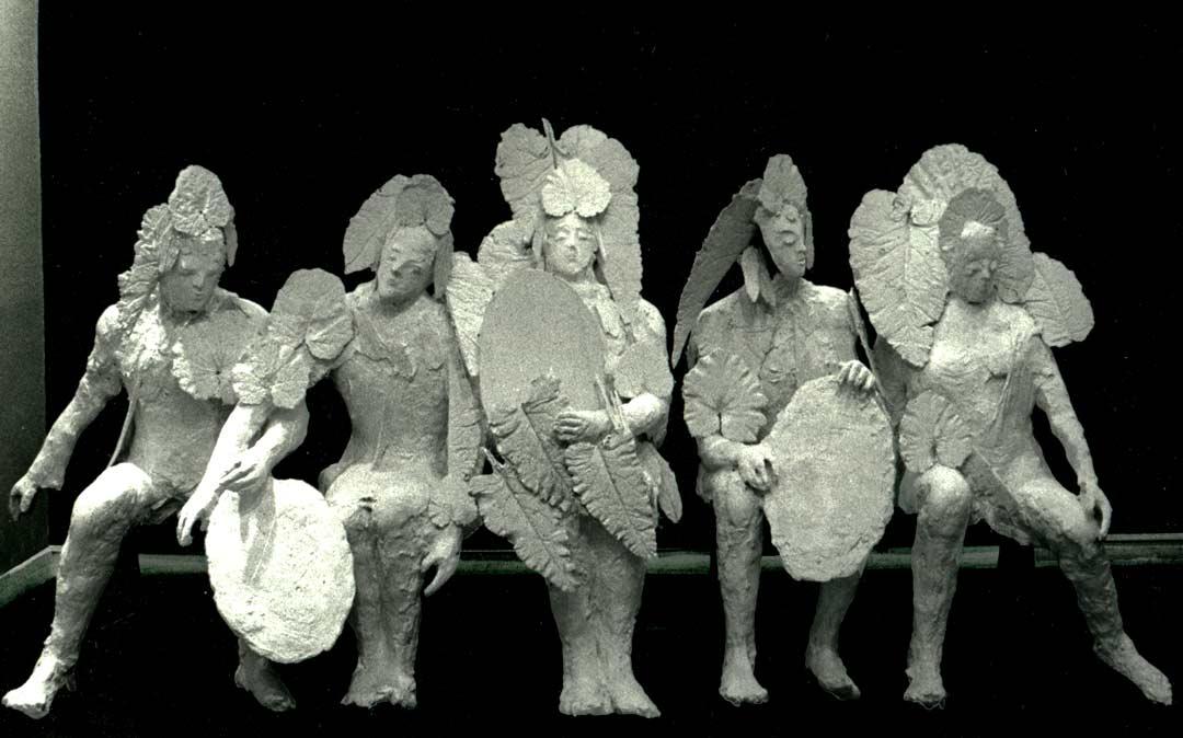 QUINTETTE ASSIS – 1976 – plâtre - 175x130x60cm