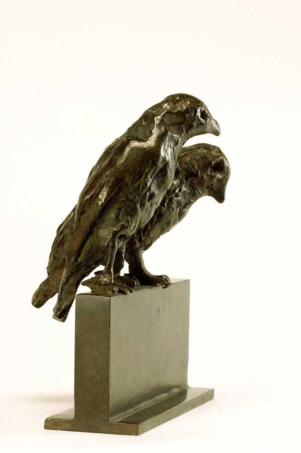 SECRET D'OISEAUX - 2004 - bronze - 14X11,5x4,2cm