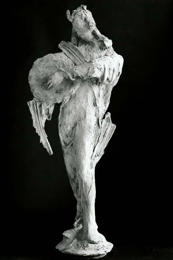 STATUE n°10 - 1982 - résine - 185x70x70cm