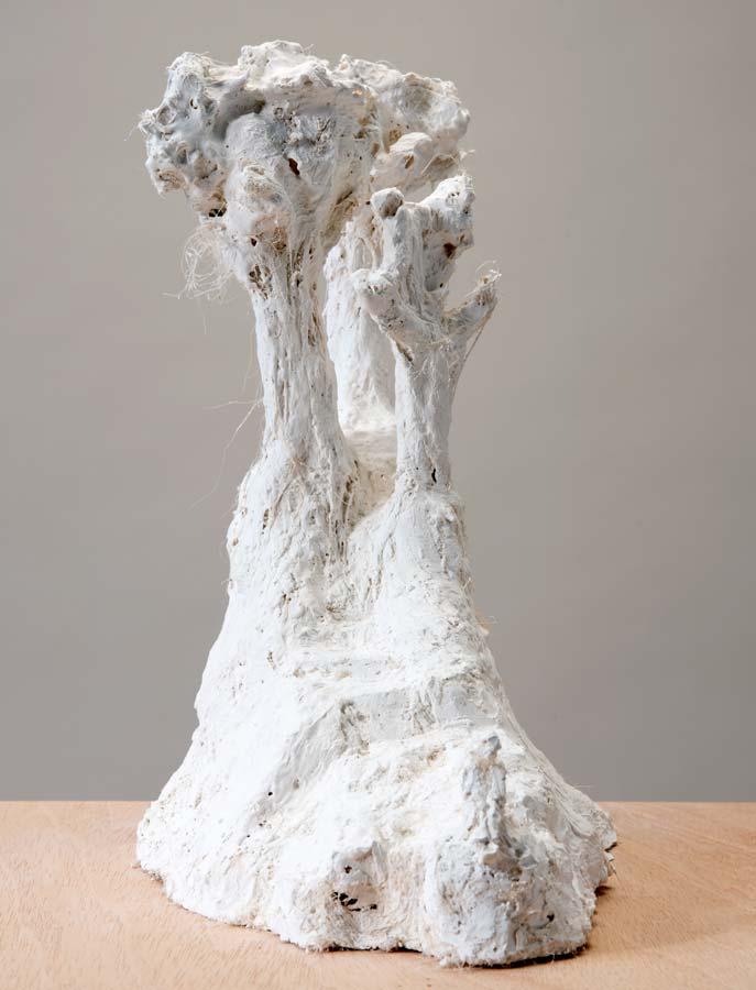 TROIS ARBRES - 2015 - plâtre - 36x30x22cm