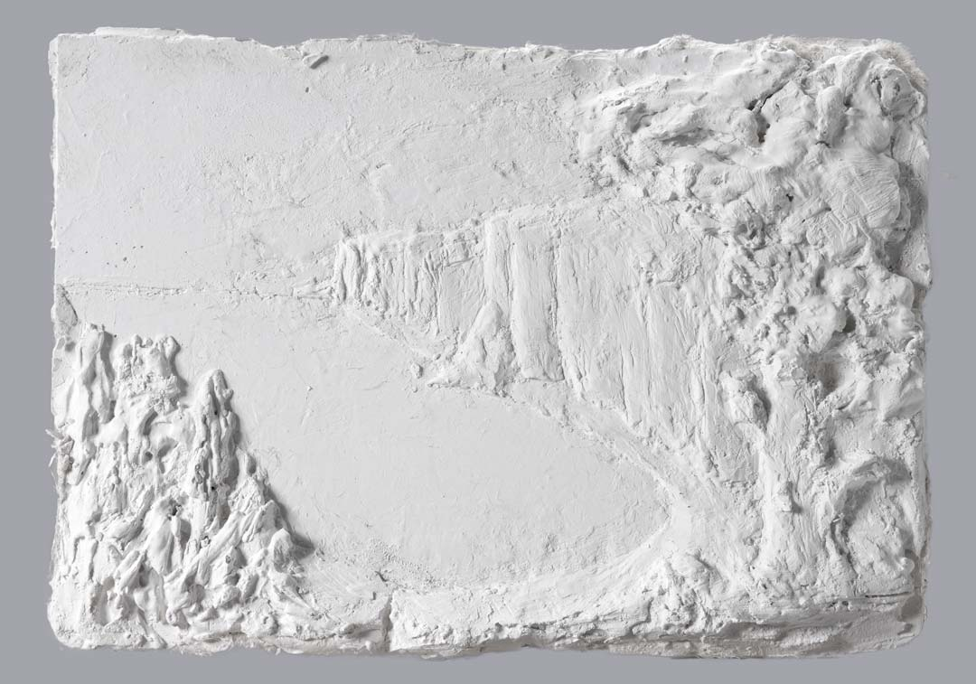VUE PLONGEANTE - 2015 - plâtre - 41x29cm