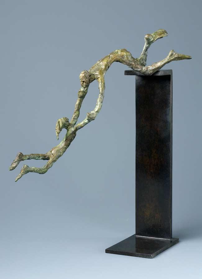 EN L'AIR - 2006 - bronze - 21,5x12x16cm