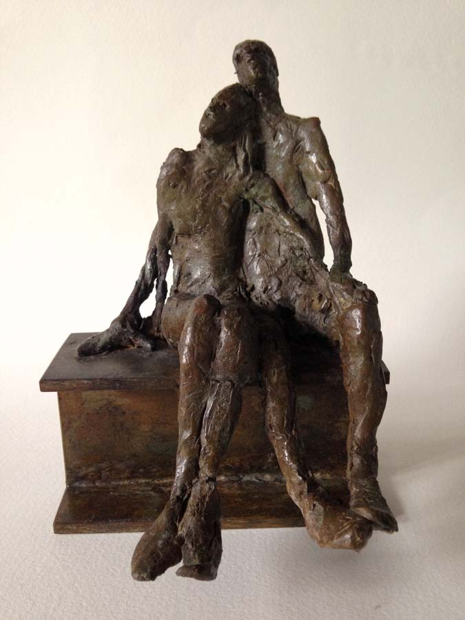 COUPLE SENTIMENTAL - 2015 - bronze - 14x10x9cm