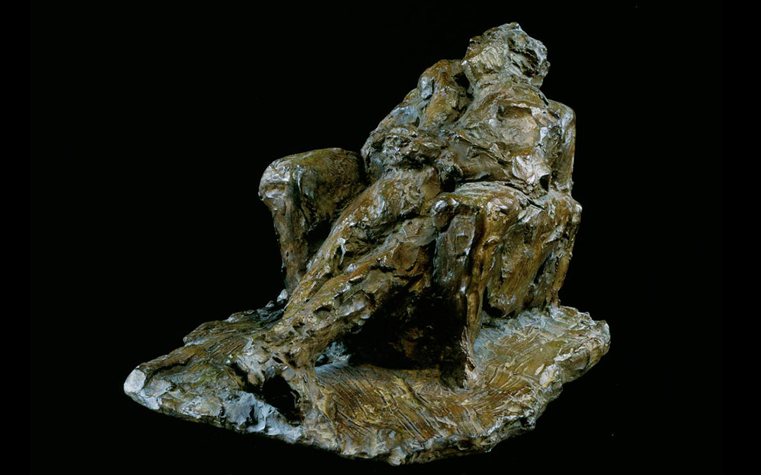 RIOPELLE ENDORMI - 1965/66 - bronze - 23x27x32cm