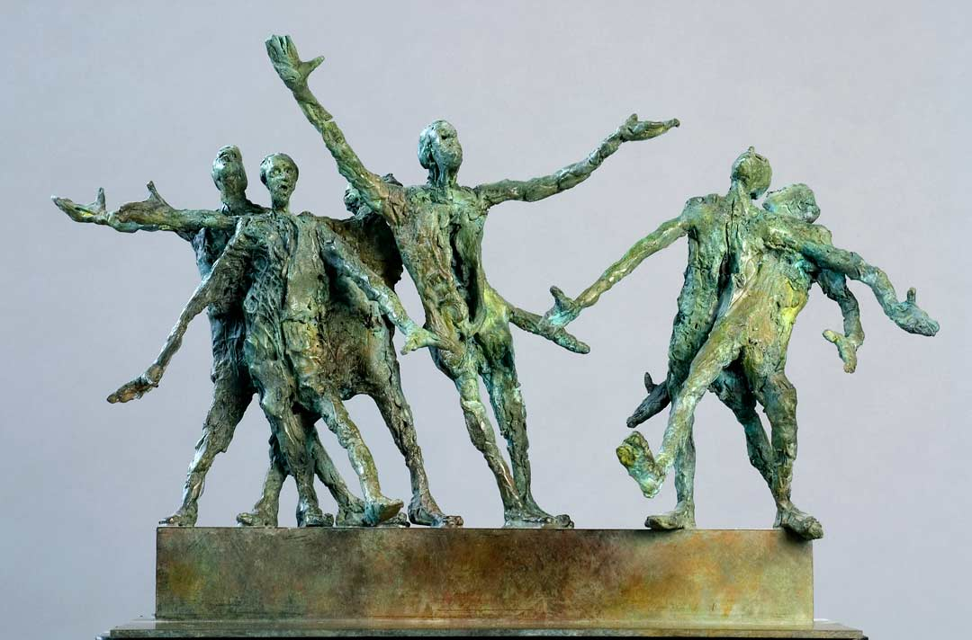 GROUPE TRAGICOMIQUE - 2008 - bronze - 31x51x20cm