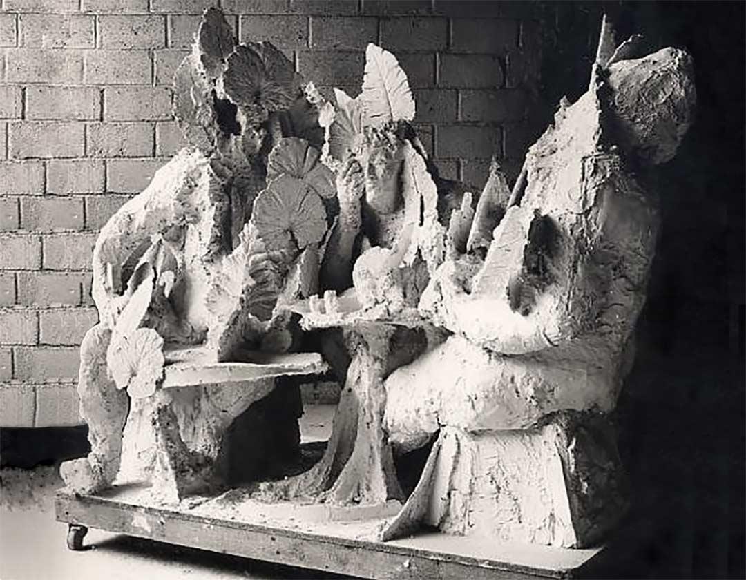 LA CONVERSATION S'ARRÊTE LÀ - 1971 – plâtre