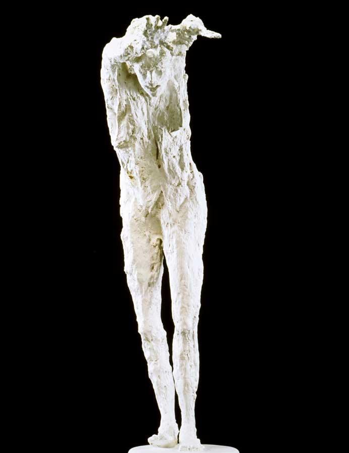 LA PLONGEUSE - 2003 - plâtre - 148x104x40cm