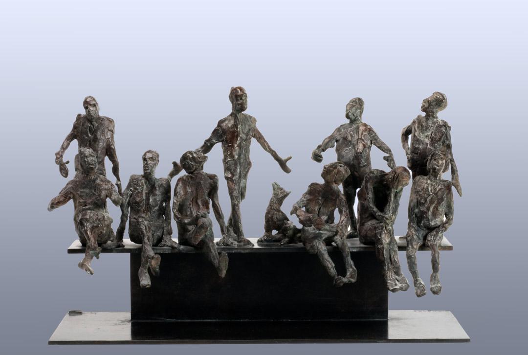LES ABSENTS PRÉSENTS - 2011 - bronze - 24x41x15cm